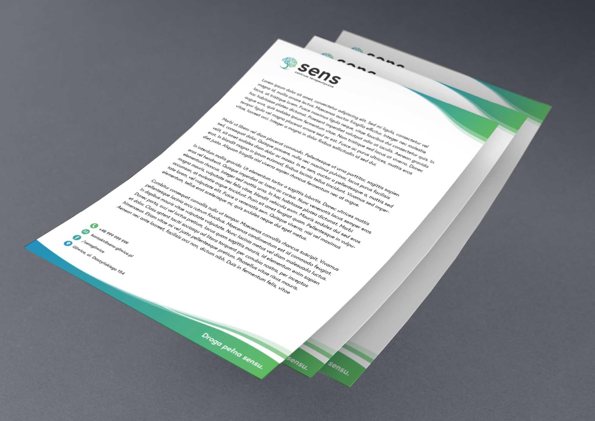 Papier firmowy - Sens