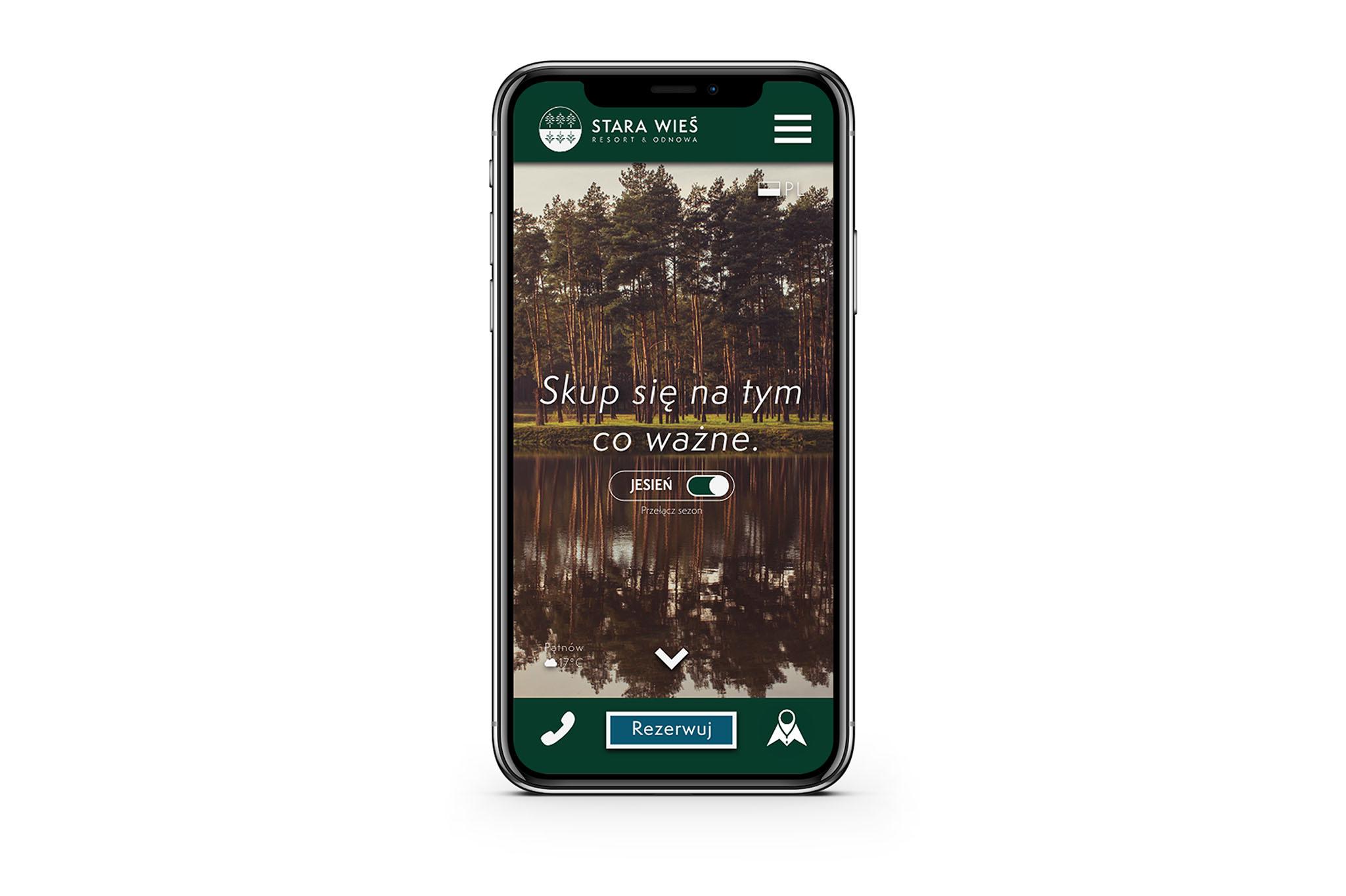 projekt strony stara wies - kto projektował stronę Stara Wieś - Fallow Deer