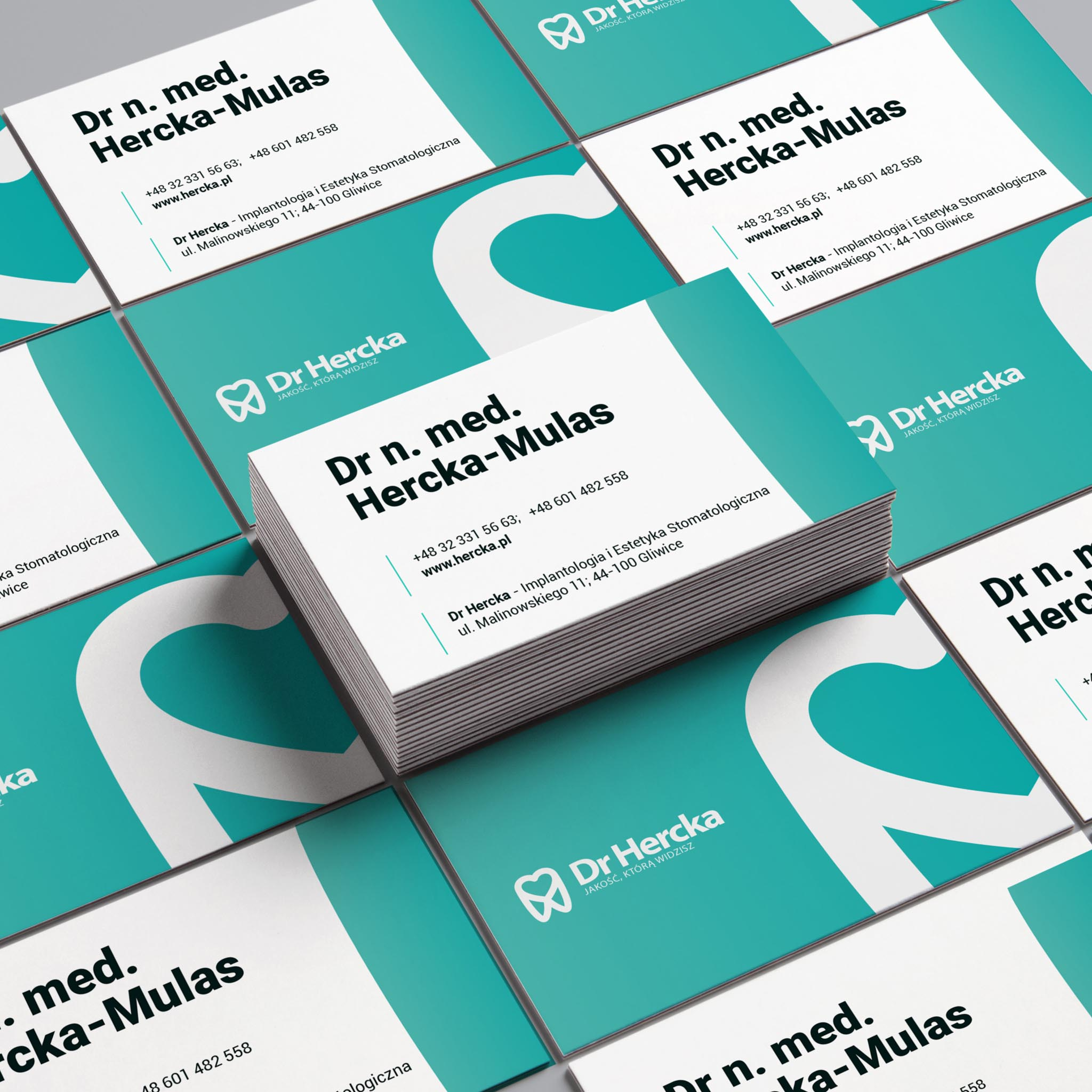 wizytówka dr Hercka logo projekt