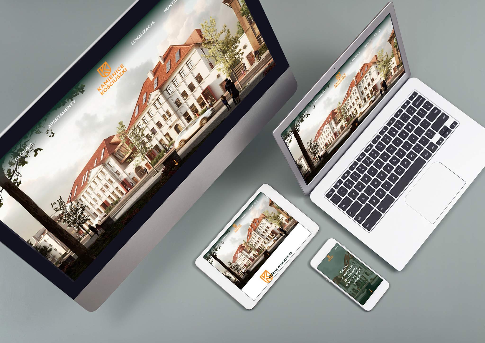 wizualizacja strona internetowa Kamienice Kosciuszki