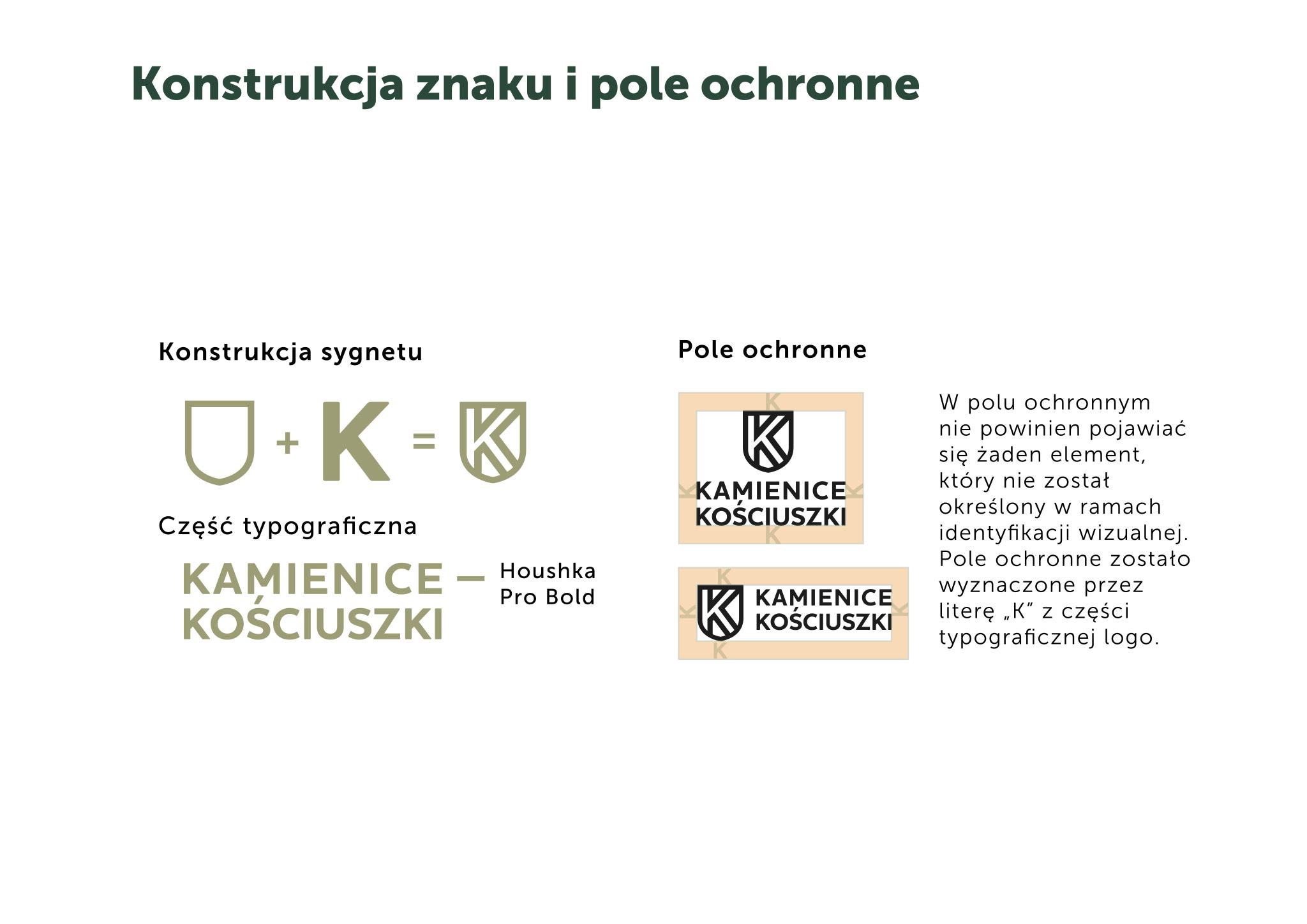 pole ochronne znaku Kamieniice Kosciuszki Gliwice