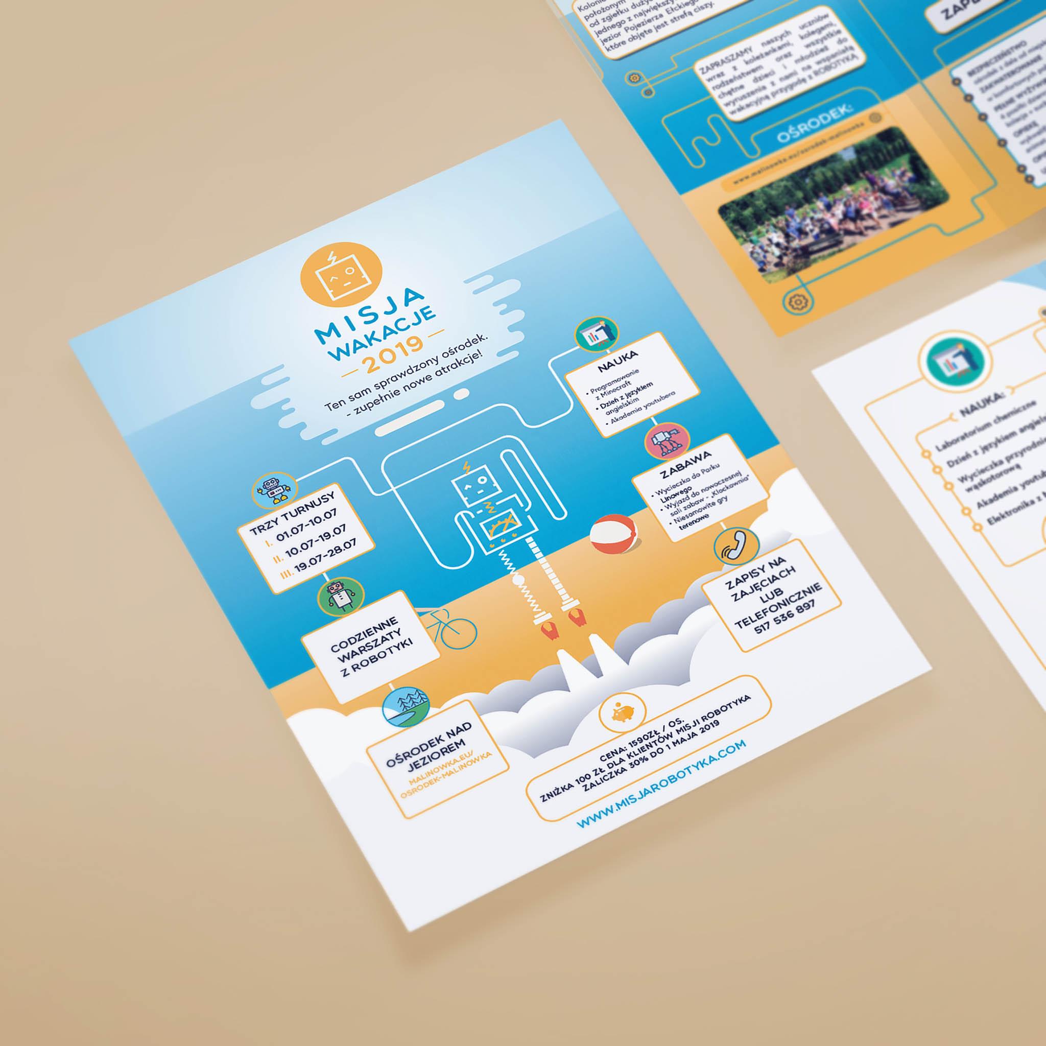 Misja Robotyka materiały drukowane plakat