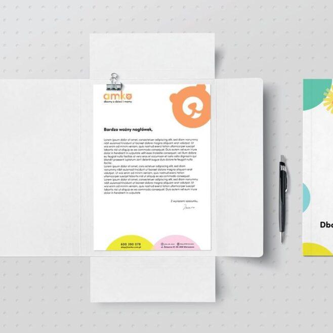 papier firmowy projekt gliwice identyfikacja wizualna